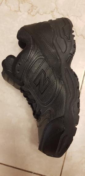 Zapatillas Escolares Cuero. Negras. Sin Uso. Unisex 33