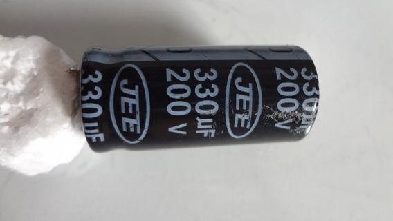 Capacitor Eletrolítico 330uf 200v Jee Usado