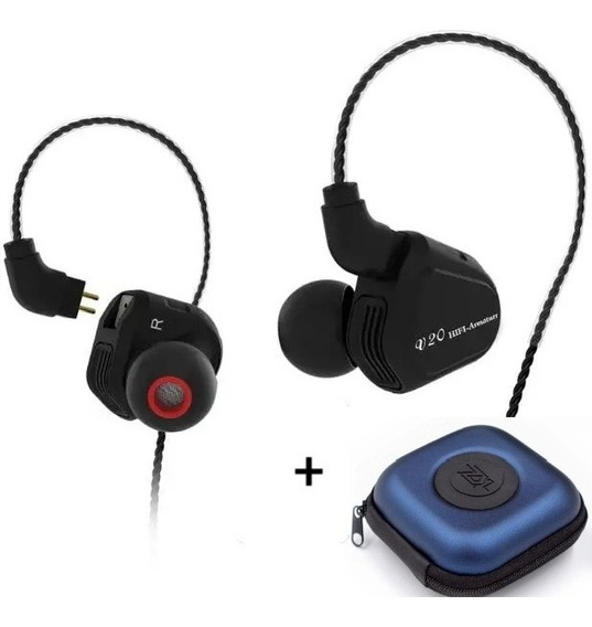 Fone In-ear Trn V20 Dual Drive Retorno De Palco Monitor Prof