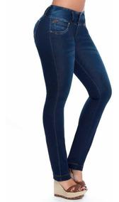 Pantalón Jean Mujer De Vestir Dama Elastizado Talle Especial