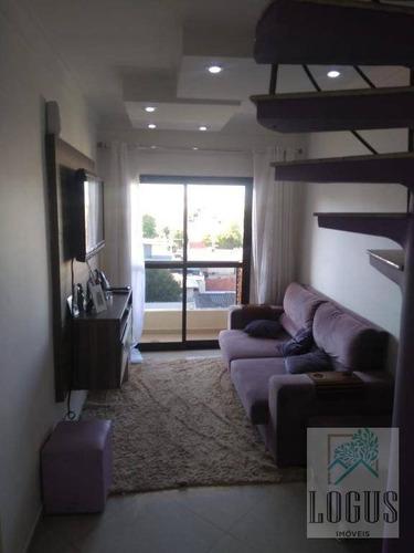 Imagem 1 de 17 de Cobertura Com 3 Dormitórios À Venda, 162 M² Por R$ 590.000,00 - Nova Gerti - São Caetano Do Sul/sp - Co0034