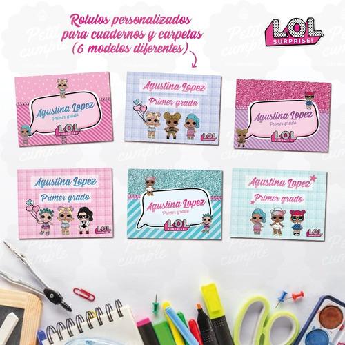 Kit Etiquetas Lol Escolares Personalizadas Imprimible