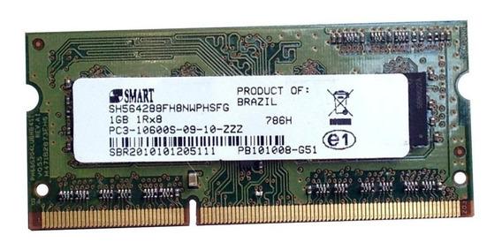 Memória Ram Notebook Smart 2gb (2x 1gb) Ddr3 1,5v 1333mhz