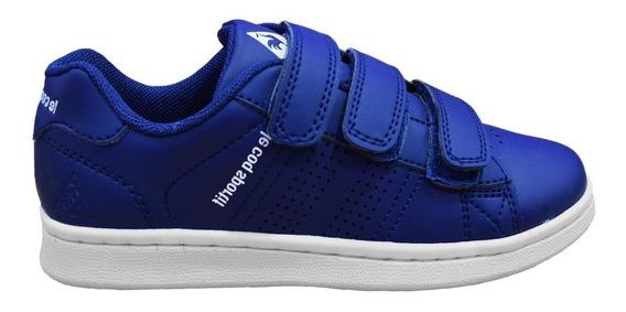 Zapatillas Le Coq Sportif Niño Sculi Strap Azul