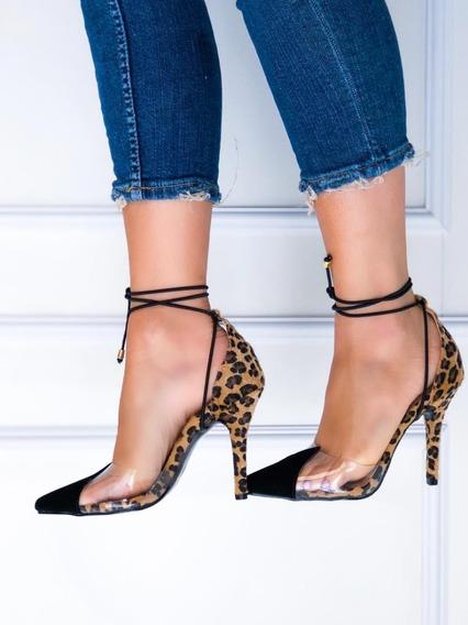 Sapatos Femininos Scarpins De Onca