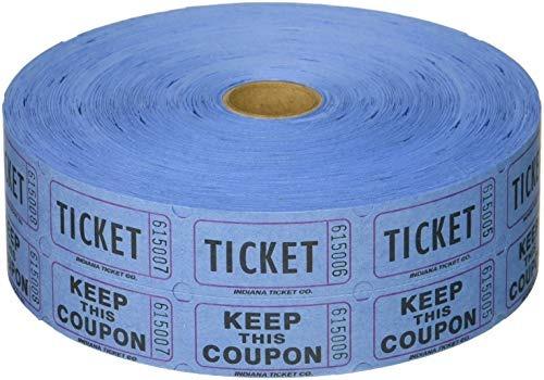 Boletos Para Sorteo 2000 Por Rollo 50/50: Azul Entrada