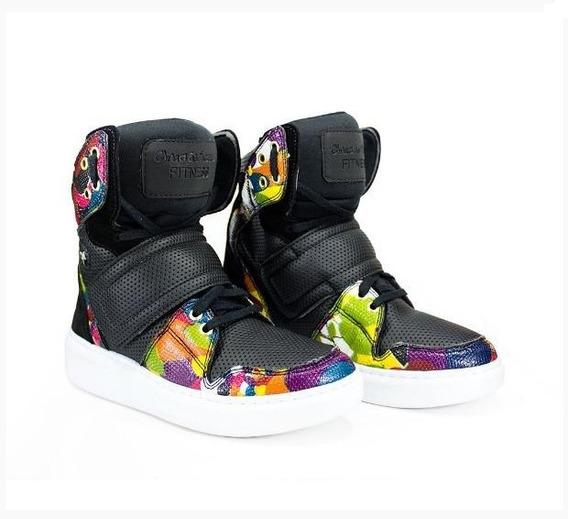 Tênis Bota Treino Sneaker Feminino Fitness Academia Colorido