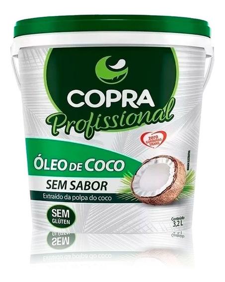 Balde Óleo De Coco Sem Sabor 3,2l - Copra - Frete Grátis
