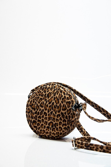 Bandolera Seki Masami Simil Gamuza Leopardo Mujer