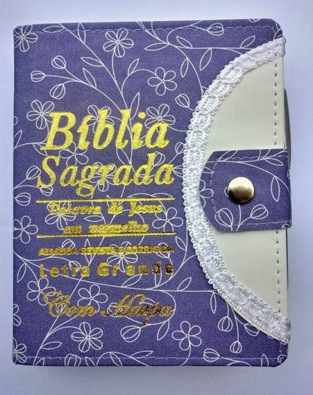 Bíblia Sagrada Letra Grande C/harpa Feminina