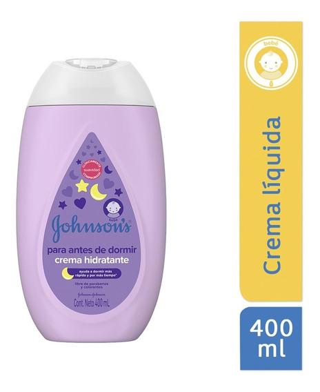 Crema Líquida Hidratante Antes De Dormir 400ml Johnson´s