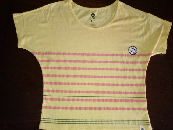 Remera Roxy Amarilla Talle X-small