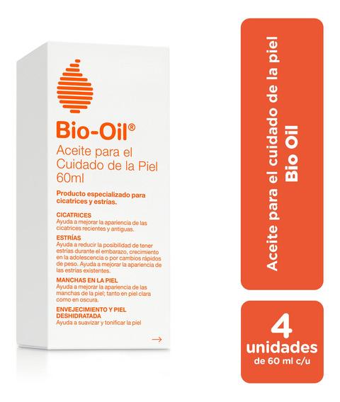 Bio Oil Tratamiento Para Estrías Y Cicatrices 60 Ml Pack X4
