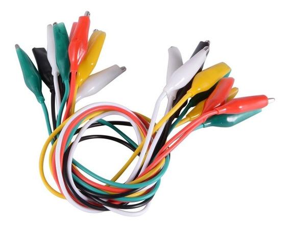 Juego Pinzas Cocodrilo Con Cable Bolsa X 10
