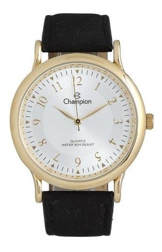Relógio Champion Masculino Ch22813b Pulseira De Couro