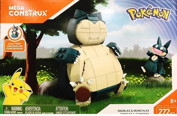 Pokemon Snorlax Munchlax Mega Construx