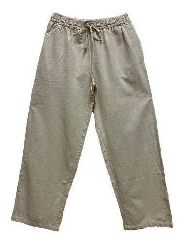 Calça Pantalona Algodão Crú Unissex 4812