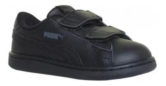 Zapatillas Puma Smash V2 Adp Abrojo Bebes Niños Vs Colores