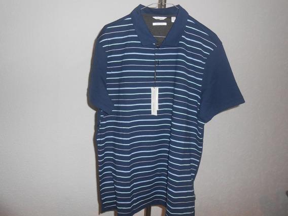Calvin Klein, Muy Padre Polo Azul Caballero Talla Xl !!!