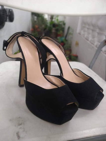 Zapatos Negros Plataforma Mujer Zara