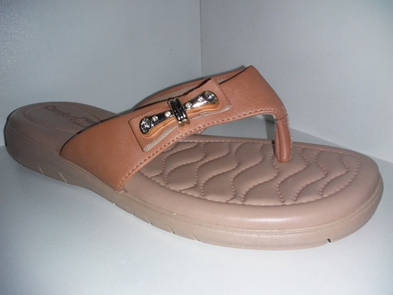 Tamanco Comfortflex Napa Vest Plus Caramelo Ref: 1880405