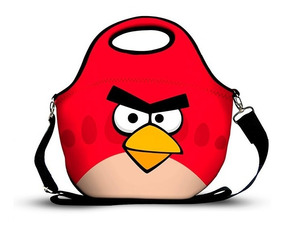 Bolsa Lancheira Térmica Em Neoprene Angry Bird