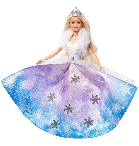 Barbie Dreamtopia Princesa Nieve Vestido Mágico Mattel Ghk26