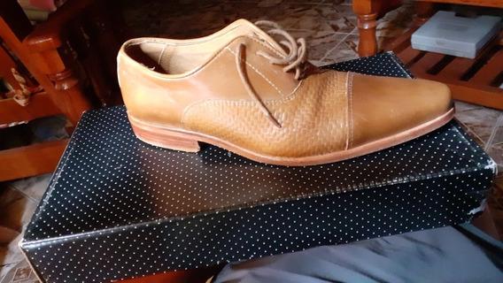 Zapato Corte Italiano Marca Blengio Cuero Vacuna Plantazuela