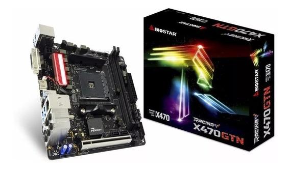 Placa Mãe Biostar Racing X470gtn Gaming, Ddr4, M.2, Usb 3.1