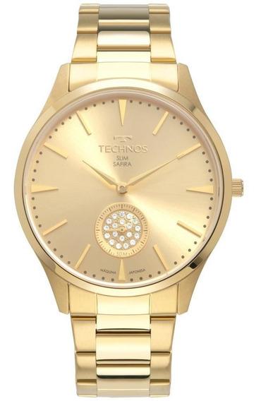 Relógio Technos Feminino Slim Dourado Vd78ab/4x