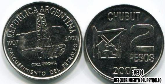 Moneda 2 Pesos Conmemorativa Descubrimiento Del Petroleo
