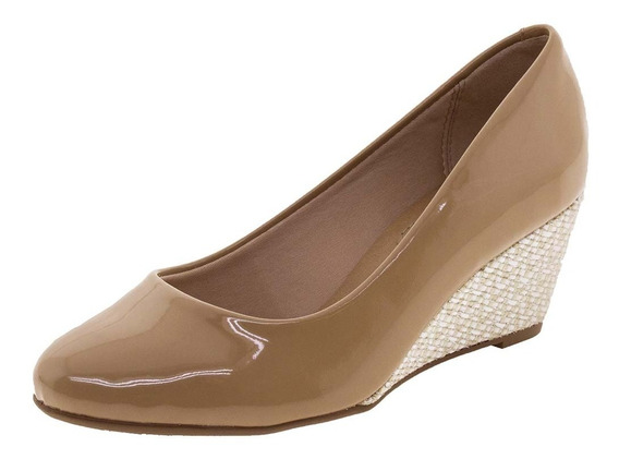Sapato Feminino Anabela Beira Rio - 4791200 Bege