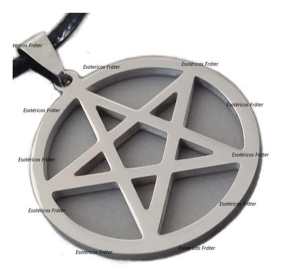 Pentagrama Esotérico Wicca Amuleto Tetragrammaton Colar