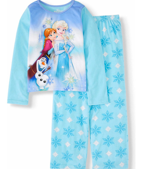 Pijama Frozen Para Niñas De Manga Larga Y Pantalón