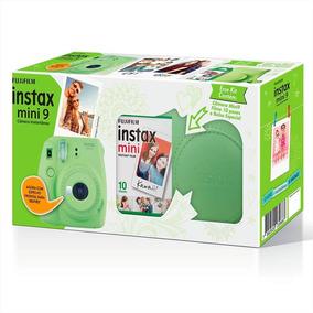 Kit Câmera Instantânea Fujifilm Instax Mini 9 Verde Lima