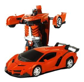 Carrinho Controle Remoto Transformers Robô Promoção Presente