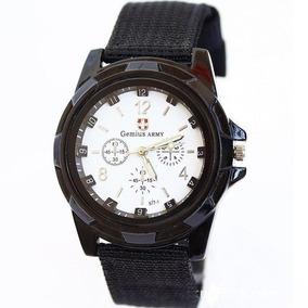 Relógio Masculino Pulseira Tecido Moda Militar Exercito Bc
