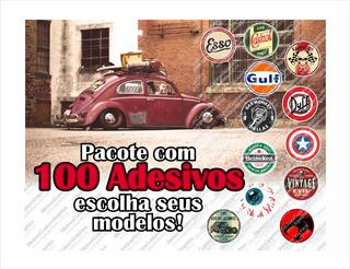 Adesivos Retro Antigos Vintage Automotivos Diversos (100 Un)