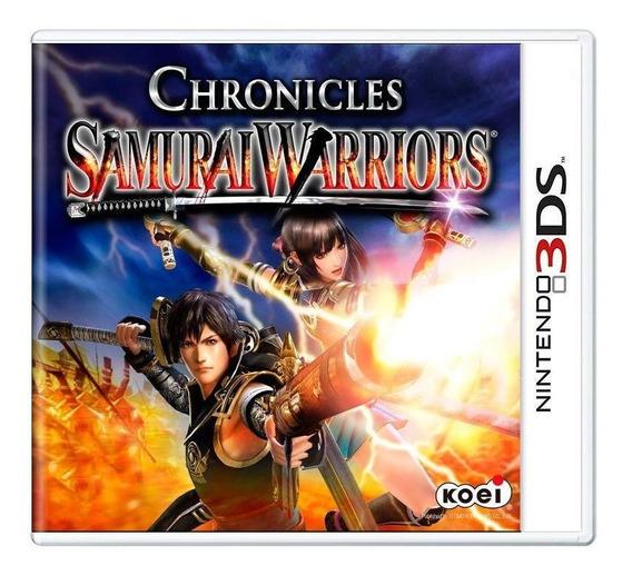 Samurai Warriors Chronicles 3ds Mídia Física Pronta Entrega