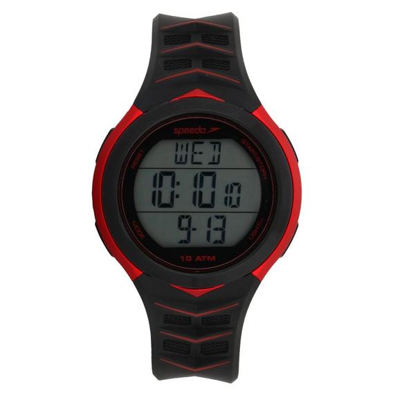 Relógio Unissex Speedo Preto/vermelho - Embalagem Danificada