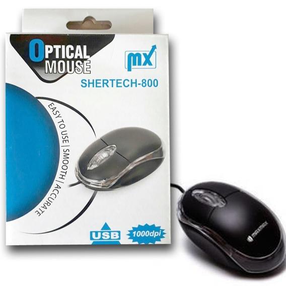 Mouse Usb Pc Desktop Bansontech Led Com Fio Usb