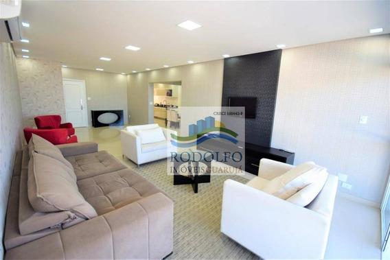 Guarujá Pitangueiras, 5 Dormitórios, ( 3 Suites ), 230 Mts Uteis, Vista Total, Ótima Localização - Ap0840