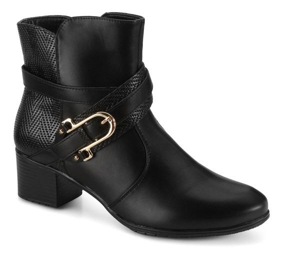 Bota Feminina Mooncity Cano Baixo 75941 - Maico Shoes