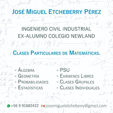 Clases Particulares Matemáticas Básica, Media Y Psu 2018