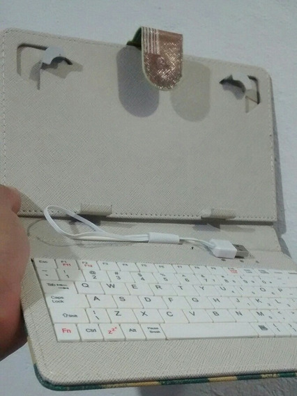 Capa Mini Teclado P/tablet 7 E 8 Pol Cabo Mini Usb V8