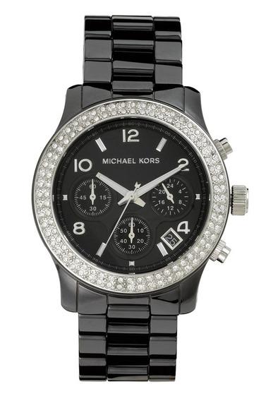 Relógio Michael Kors Mk5190 Orig Chron Anal Black