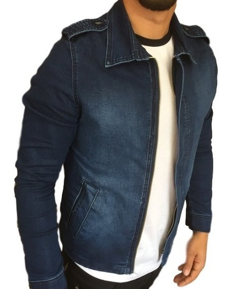Jaqueta Jens Masculina Slim Blazer Fit Casaco Preta E Marrom