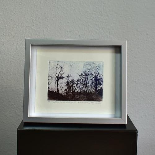 Imagen 1 de 2 de Grabado Winter In Gloucester, Autor Klaudio Vidal.