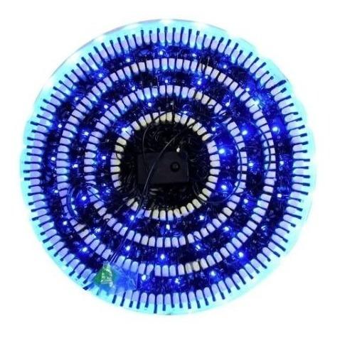 Imagen 1 de 1 de Serie Navideña Azul V3 300 Luces 5.2m Led Fino Cable Negro