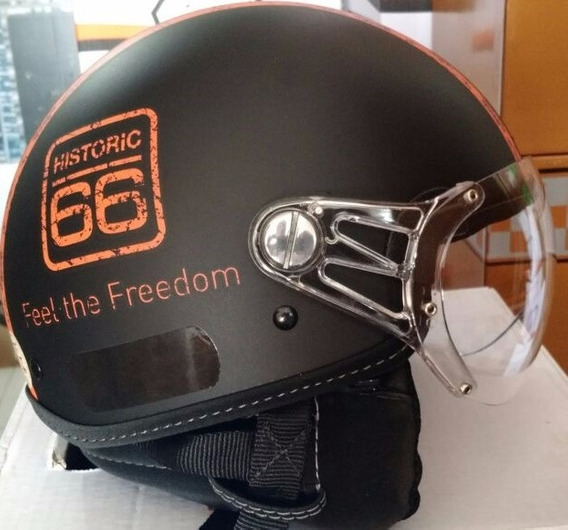 Capacete Aberto Kraft Novo Historic 66 Custom Old - Full